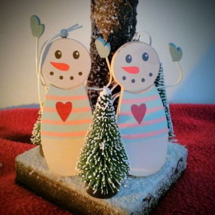 £2 Hanging Snowmen Decorations (set 2)